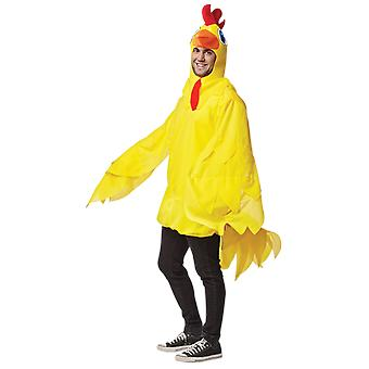 Mens Yellow Chicken Animal Farm Funny Fancy Dress Costume