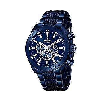 Festina גברים ' s-1/F16887-שעון קוורץ גברים עם תצוגה הכרונוגרף ורצועת פלדה INOX, צבע: כחול