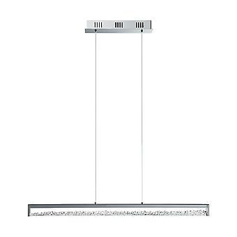 Eglo - Cardito 6 lumière LED poli pendentif barre Chrome avec verre cristaux EG90929