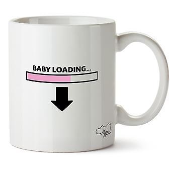 Hippowarehouse vauvan lastaus (vaaleanpunainen) painettu muki Cup keraaminen 10oz