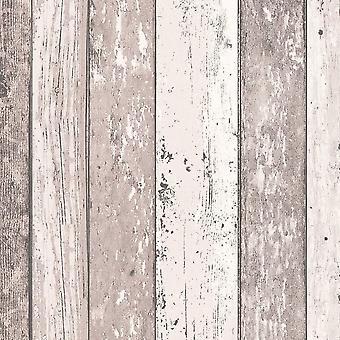 Hout Effect Wallpaper verdrietig houten graan Surf strand Hut Vinyl 6 kleuren