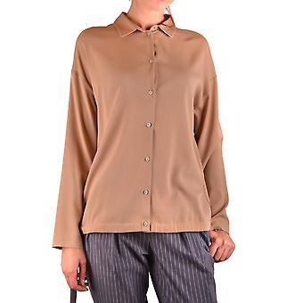 Fabiana Filippi Ezbc055040 Mulheres's Camisa de Seda Marrom