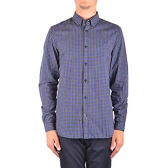 Fred Perry Ezbc094061 Men's Blue Cotton Shirt