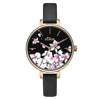 s.Oliver women's watch wristwatch leather SO-3782-LQ
