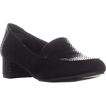 Karen Scott Womens Flura Fabric Square Toe Loafers