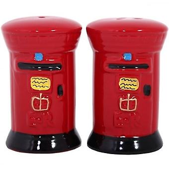 Union Jack Wear Post Box Salt And Pepper Set