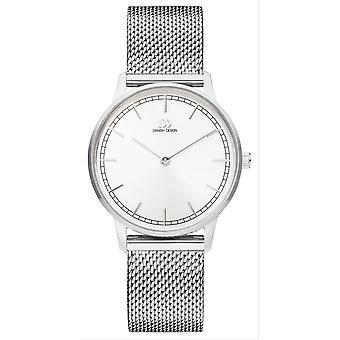 Deens design Tildos Vigelso horloge-zilver