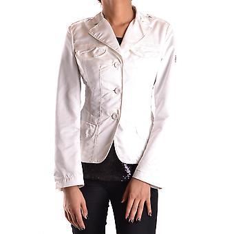 Geospirit Ezbc203034 Women's White Polyester Blazer