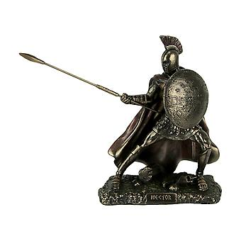 Hector Trojan Prince Warrior of Troy Holding Spear and Shield Statue
