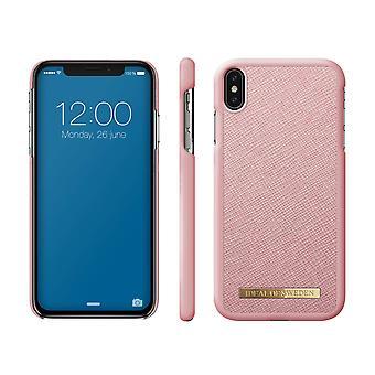 iDeal de Suecia iPhone XS Max Saffiano Shell-Pink