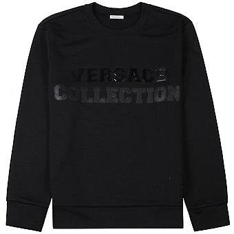 Versace coleção Graphic logo camisola preta