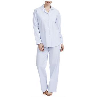 Britské boxery Porthtowan Seersuckera pyžamo-světle modrá