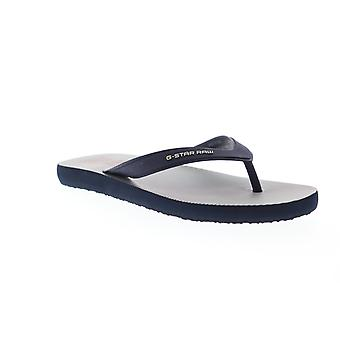 G-Star Raw Dend Hickory Aop Mens Blue Thong Slip On Flip-Flops Sandals Scarpe
