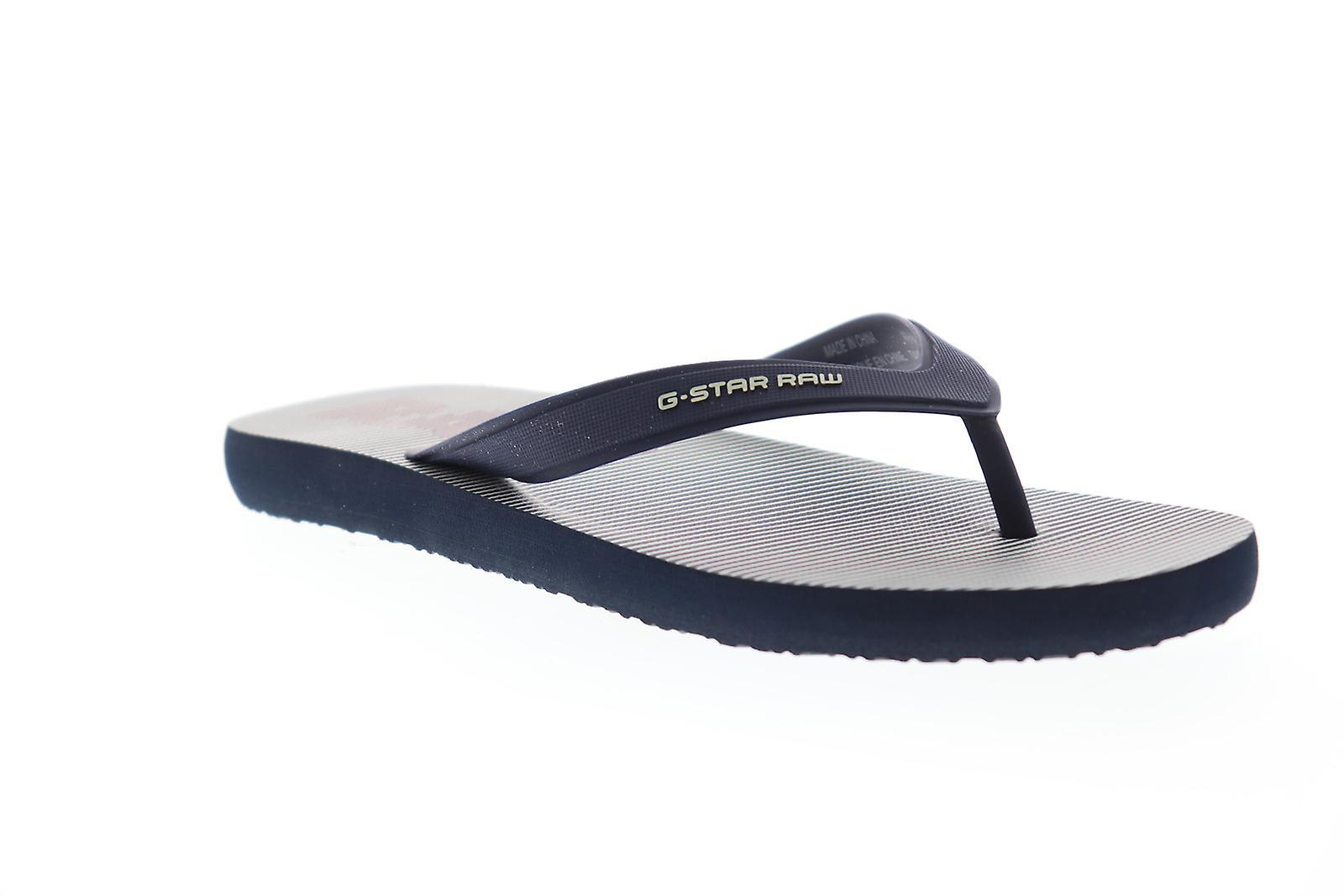 G-Star Raw dend Hickory AOP miesten sininen remmi slip on Flip-Flops Sandaalit kengät