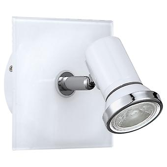 Eglo - Tamara 1 vetro bianco regolabile bagno parete Spot luce EG95993
