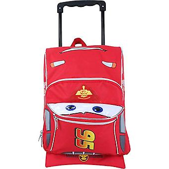 Small Rolling Backpack - Disney - Cars Lightning McQueen Shape New 002473