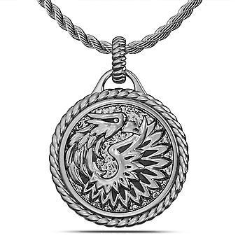 Collar colgante Khabib Nurmagomedov en diseño de plata de ley por BIXLER
