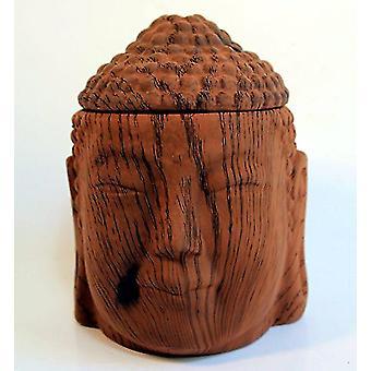Scentchips keramiska vax smält varmare Buddha Head mörkt trä tårta granulat