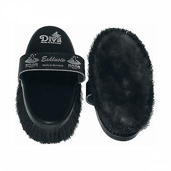 Haas Diva Exklusiv Horse Brush - Black
