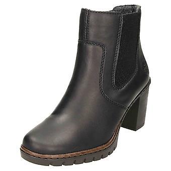 Rieker Chelsea høj hæl ankel støvler Y2574-00