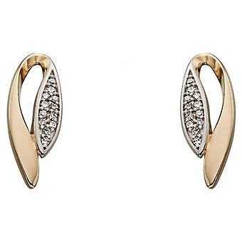 Elements Gold Marquise Earrings - Gold/Silver