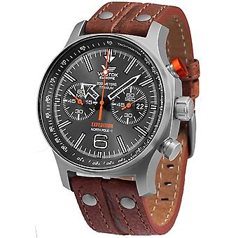 Vostok europe expedition Quartz Analog Man Watch with Cowhide Bracelet 6S21-595H298