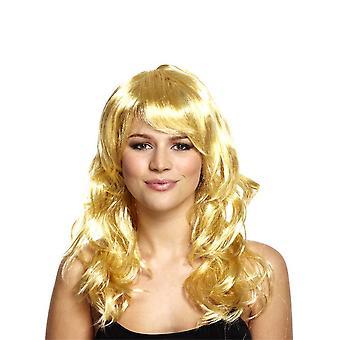 70-luvun ikoni blondi peruukki