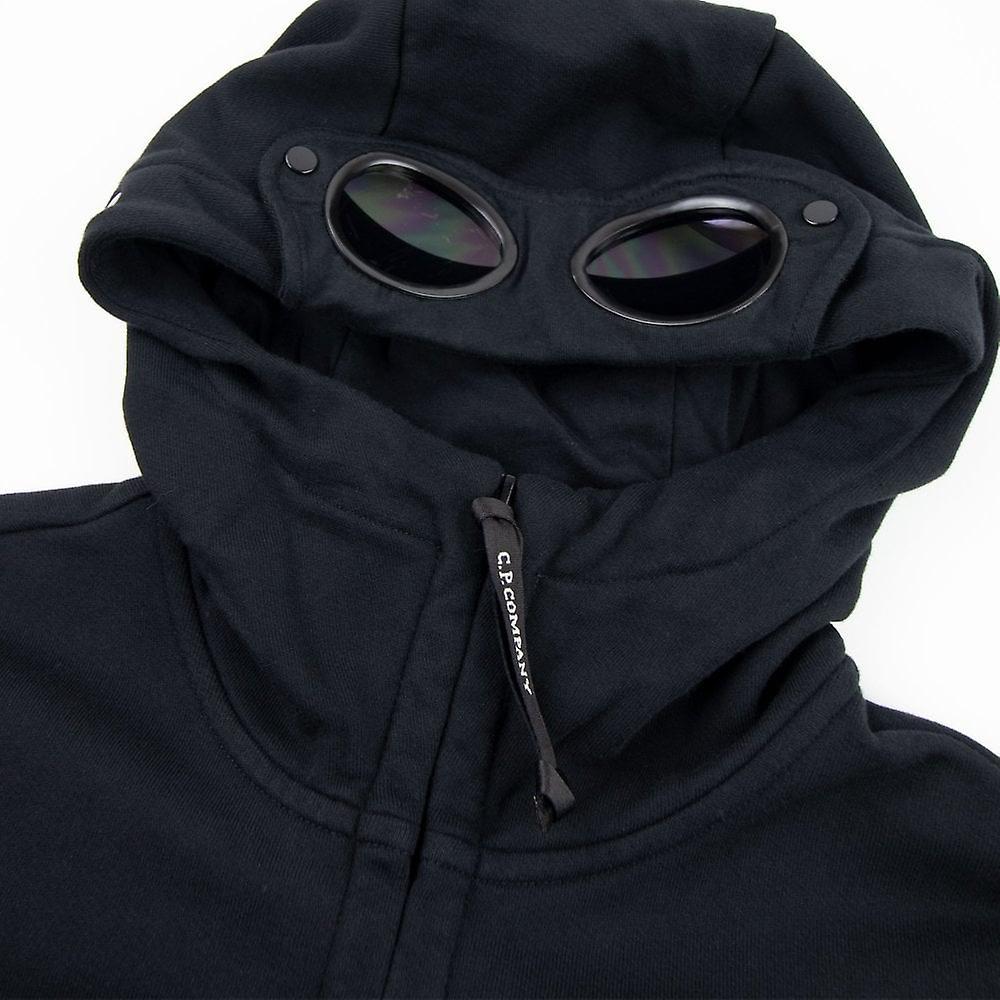 CP Company Diagonal podniósł Polar Goggle Full Zip Bluza z kapturem czarny 999