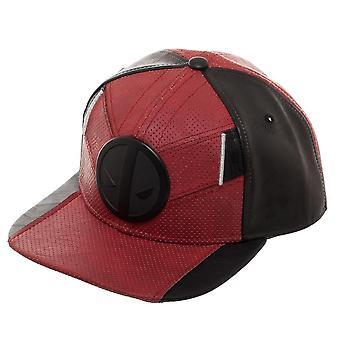 Deadpool Suit op røde mænd ' s hat