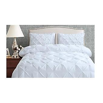 Dreamz Diamond Pintuck Bed Duvet Quilt Cover Double