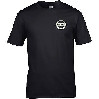 Nissan Motor bil Motoring-broderad logo-bomull Premium T-shirt