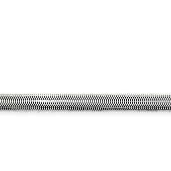 Edelstahl poliert Phantasie Hummer Schließung 5,20 mm flache Schlange Kette - Länge: 20 bis 24