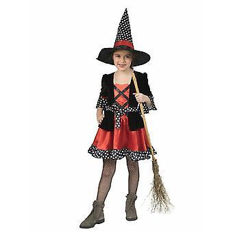 Hexe Kinderkostüm Witch Hexenkleid Polka Dotty Kostüm Kinder Halloween Karneval