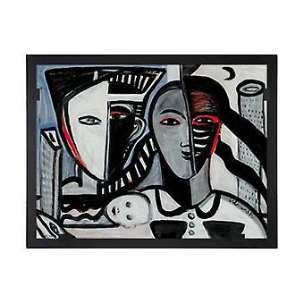 Glass vision-painting-art glass-Eternity Design Ulrica Hydman Vallien