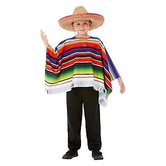 Drenge mexicansk Poncho Fancy kjole tilbehør