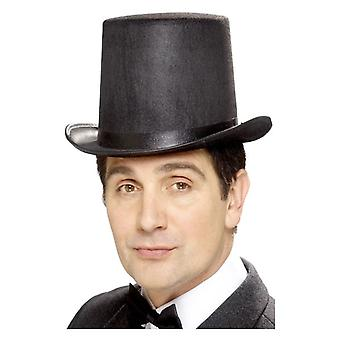 Feltro nero Mens Stovepipe Topper cappello costume accessorio
