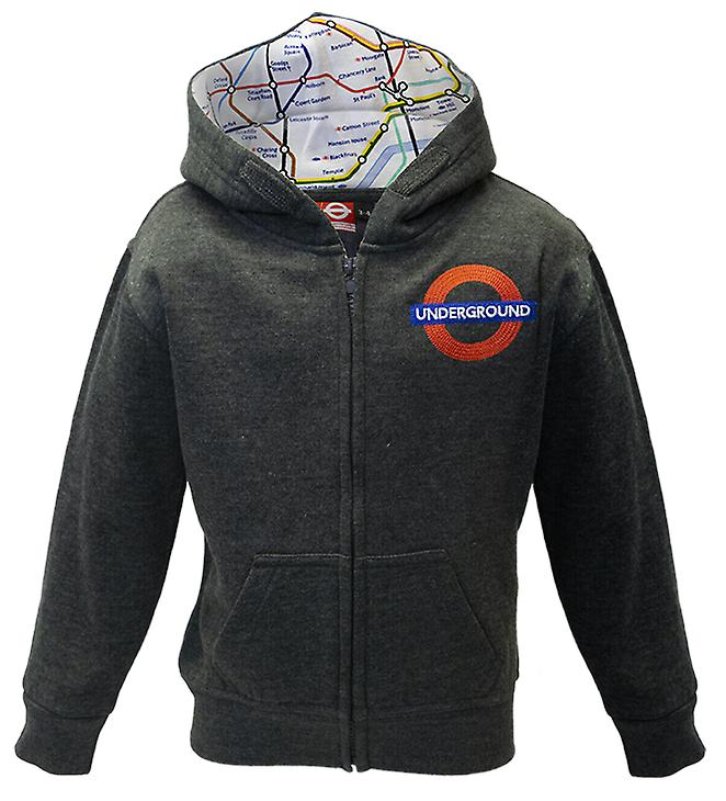 Kids licensed embroidered underground™ zipped hooded sweatshirt
