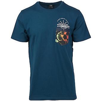 Rip Curl till Dusk korte mouwen T-shirt in Navy