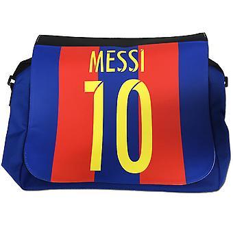 Messi 10 blauwe tas met schouderriem-perfecte schooltas