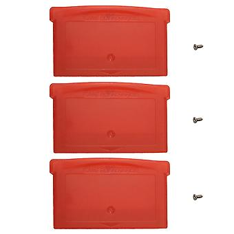 Replacement game cartridge shell case for nintendo game boy advance games - 3 pack red