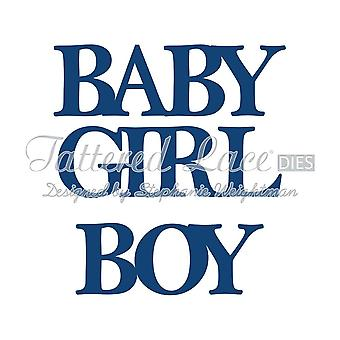 Baby Boy & Girl Classic: Tattered Lace Metal Die Paper Card Stephanie Weightman