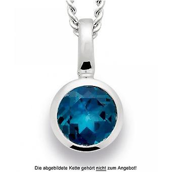 bastian inverun - silver pendant with blue topaz - 21430