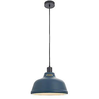 Endon Mono 1 Licht Anhänger Licht Matt Tinte blau & Matt weiß 80647