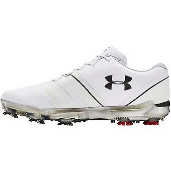 Under Armour UA Hombres Spieth 3 GTX E Goretex Zapatos de Golf Impermeables - Blanco