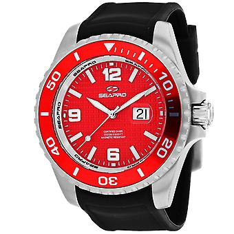 Seapro Men's Abismo 2000M Diver Reloj Red Dial Watch - SP0745