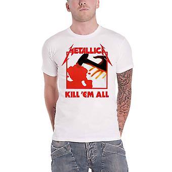 Metallica T Shirt Kill em All Band logo uusi virallinen miesten valkoinen