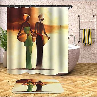 African Ladies Shower Curtain