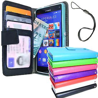 Sony Xperia Z3 Wallet case ID/photo pocket + wrist Strap