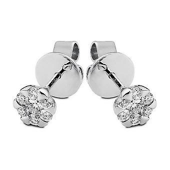 Pendientes de diamante - oro blanco 18K 750 - 0.22 qt.