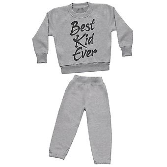 Best Kid Ever - Sweatshirt with Grey Joggers - Baby / Kids Outfit